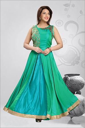 Plain Silk Gown
