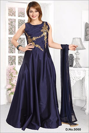 Embroidered Long Gown