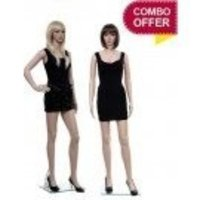 Twin Sister Plastic Mannequin PMFF01 Pack of 2
