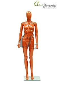 Female Abstract Orange Gloss Mannequin FA09
