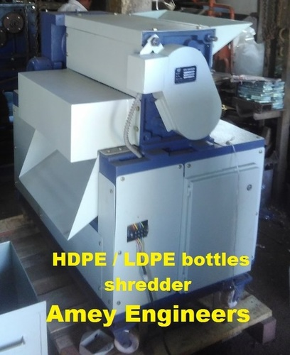 HDPE & LDPE bottles shredder