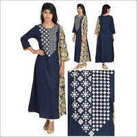 Priya's Designer Straight Kurta with Side Print