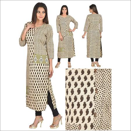 Priya's Printed Designer Cotton Kurti
