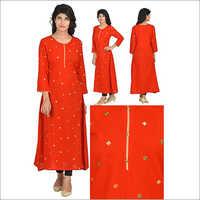 Priya's Straight Designer Rayon Kurta