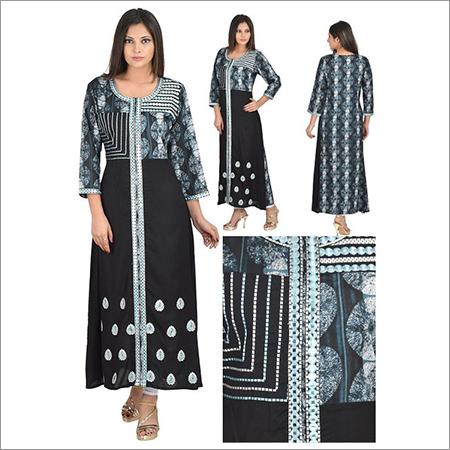 Priya's Rayon Front Cut Designer Kurti