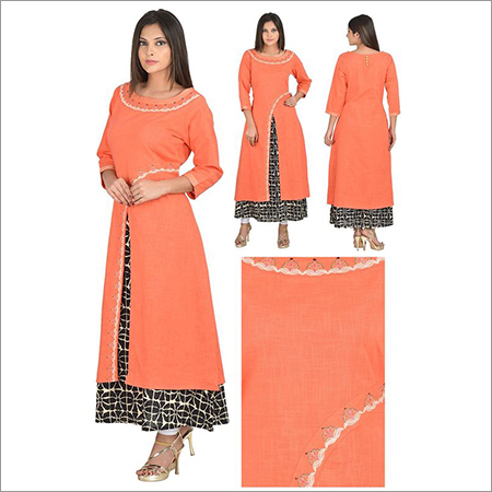 Priya's Double Layer Designer Cotton Kurta