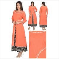 Priya's Double Layer Designer Cotton Kurta