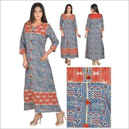 Priya's Designer Print Cotton Kurta