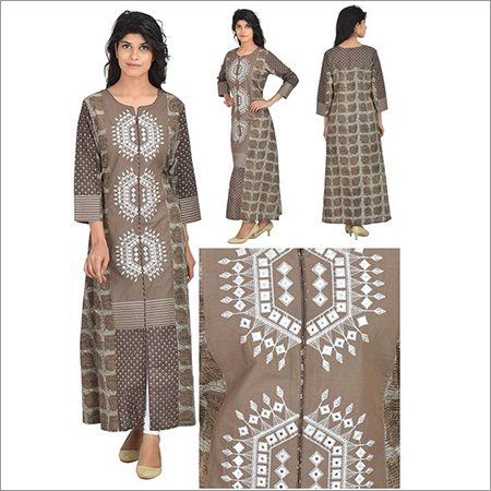 Priya's A Line Cotton Printed Designer Kurta