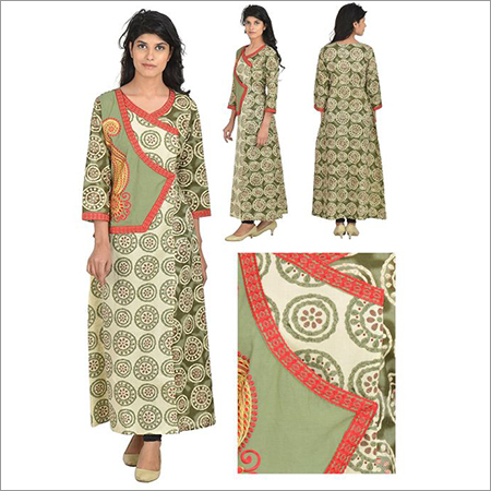Designer V Neck Embroidery Kurta For Women