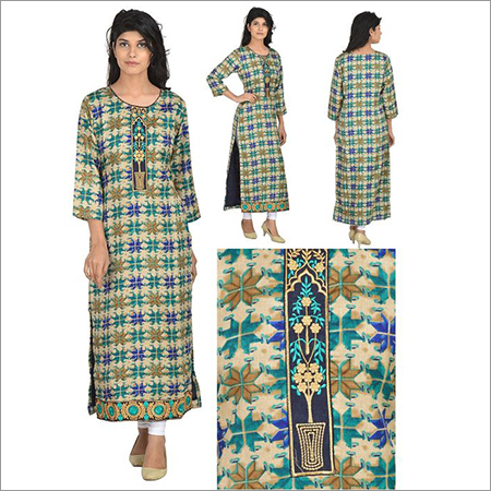 Priya's Desginer Chanderi Kurta with Embroidery