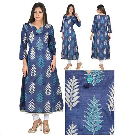 Priya's Designer A-Line Double Layer Kurti
