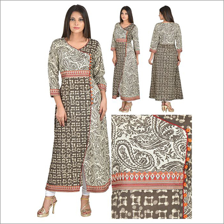 Priya's Straight Designer Cotton Kurti