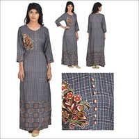 Priya's Designer A-Line Embroidery Kurta