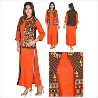 Priya's Designer Jacket Style Kurta