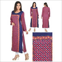 Multicolor Designer Straight Cotton Kurta