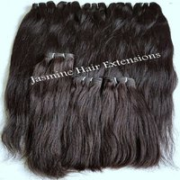 ,100% Human Hair Extensions Natural Color Straight ,Temple Donated Raw Human Hair