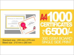 A4 Certificates Single Side Offset Printing
