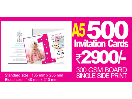A5 Invitation Single Side Printing