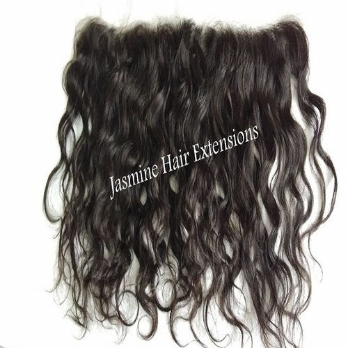 Temple Donated Unprocessed Wavy Hair Frontal 13x4