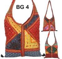Vintage Multi Color Embroidered Dress Patch Shoulder Bag