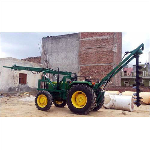Agriculture Tractor Mounted Pole Erection Machine