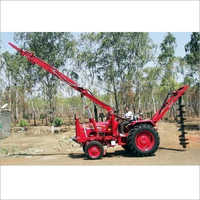 Tractor Hydraulic Pole Erection Machine