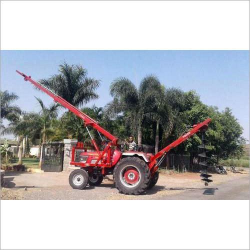 Tractor Mounted Pole Erection Machine
