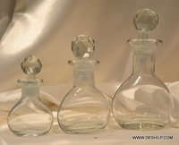 Footed Decanter Gold Decanter Crystal Wine Decanter Vintage Sharon Wine Decanter