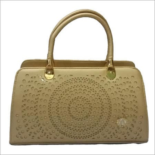 Ladies Handbag in Golden Colour
