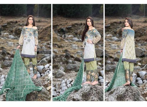 Fancy Chiffon Cotton dress online sales