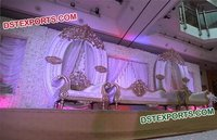 Latest Wedding Stage Fiber Oval Back Frame