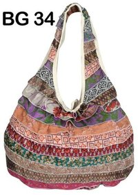 Vintage Silk Blend Saris Boho Shoulder Bag