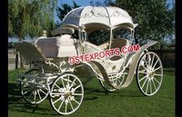 Pumpkin Style Wedding Cinderella Horse Carriage