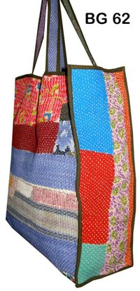 Vintage Kantha Tote Shopper Bag