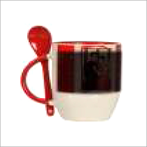 Mug Magic Spoon Black Inner Red