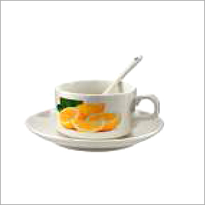 Cup & Saucer With Spoon