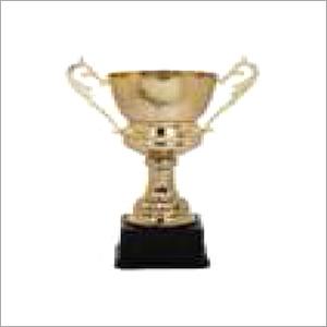 Metal Trophy With Black Base
