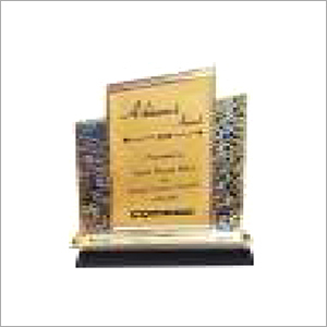 Metal Award With Black Base