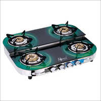 Gas Stove Glass Top Double Decker