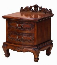Hand carved bedside table