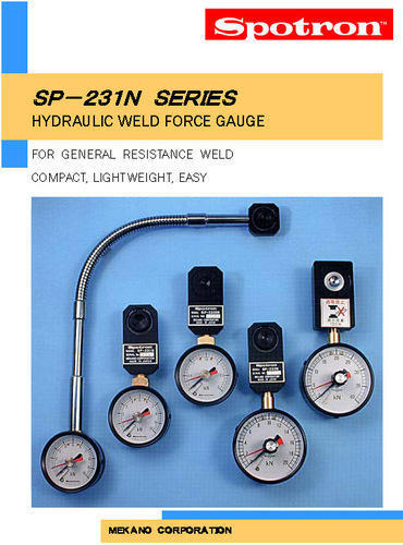 Hydraulic Weld Force Gauge, SP-231, Spotron Japan