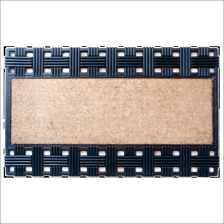 Rubber Backed Coir Brush Mats