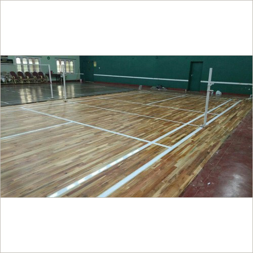 Teak Wood Badminton Court Flooring