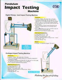 Impact Testing Machine (Digital or Analoge)