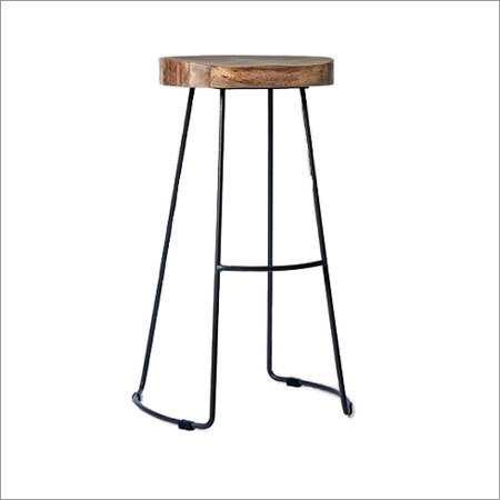 Bar Stool Round Wooden Top