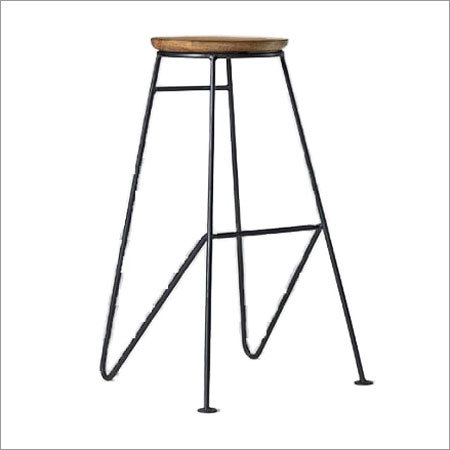 Bar Stool Natural Wood Top