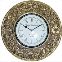 Wall Decor Round Brass Fitted Clock