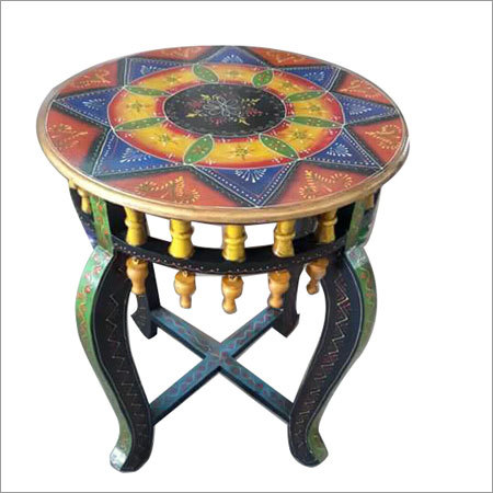 Hand Painted Round Table