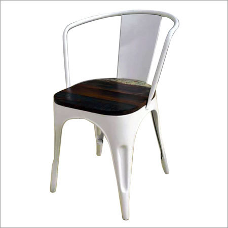 Tolix Chair with Wood Top